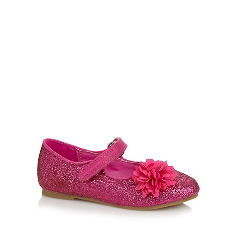 bluezoo - Girl+s pink glitter corsage pumps