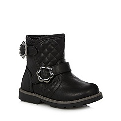 bluezoo - Girl's black buckle ankle boots
