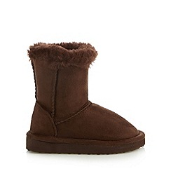bluezoo - Girl's dark brown pull on boots