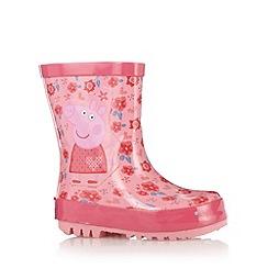 Peppa Pig - Girl's pink 'Peppa Pig' wellies
