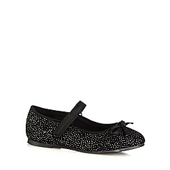 bluezoo - Girl's black glitter party pumps