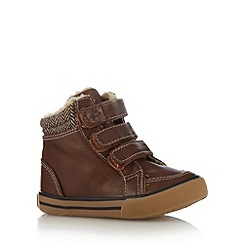 bluezoo - Boy's brown three tab boots