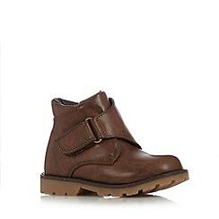 bluezoo - Boy's tan monk rip tape boots