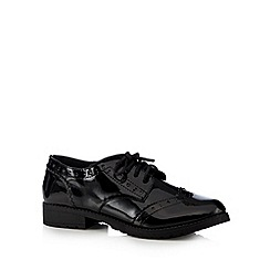 Debenhams - Girl's black patent school brogues