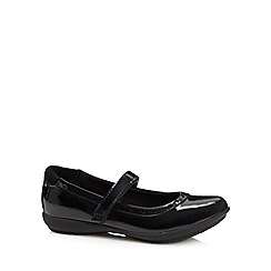Debenhams - Girl's black patent school shoes