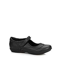 Debenhams - Girl's black stitch school shoes