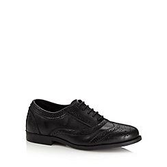 Debenhams - Girl's black leather school brogues