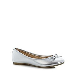 bluezoo - Girl's silver ballet pumps