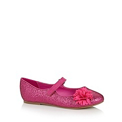 bluezoo - Girl's pink glitter corsage pumps
