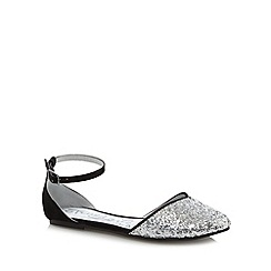 bluezoo - Girl's silver glitter toe shoes