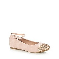 bluezoo - Girl's pink glitter toe pumps