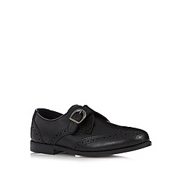 Debenhams - Girl's black leather back to school monk shoe