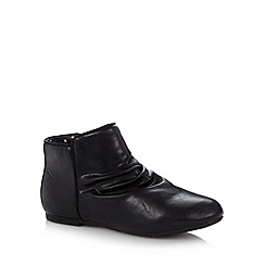 bluezoo - Girl's black ruched ankle boots