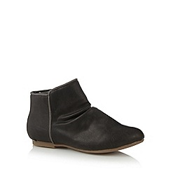 bluezoo - Girl's dark grey ruched ankle boots