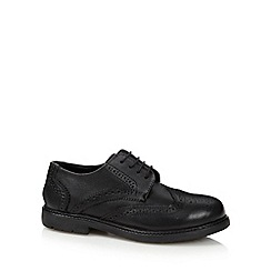 Debenhams - Boy's black leather school brogues