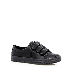 bluezoo - Boy's black three tab trainers