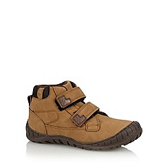 bluezoo - Boy's tan two tab walking boots