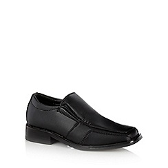 Debenhams - Boy's black school loafers