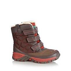 Mantaray - Boy's brown quilted snow boots