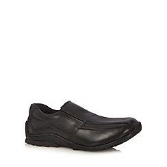 Debenhams - Boy's black leather loafers