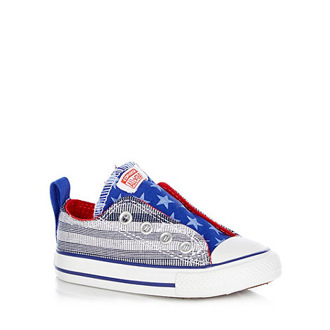 Converse - Children+s blue chambray trainers