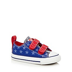 Converse - Boy's blue star printed two tab trainers