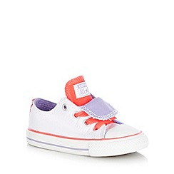 Converse - Babies white double tongue 'All Star' trainers