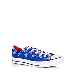 Converse - Blue lace up trainers