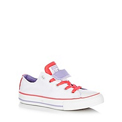 Converse - Children's white double tongue trainers
