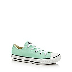 Converse - Girl's pale green 'All Star' canvas trainers
