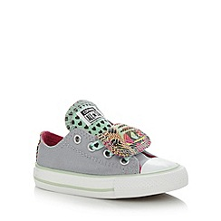 Converse - Girl's grey 'All Star' double tongue trainers