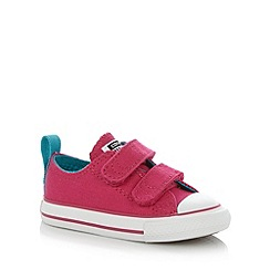Converse - Girl's bright pink 'All Star' rip tape trainers