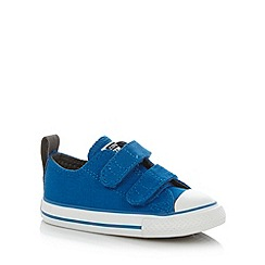 Converse - Boy's bright blue 'All Star' rip tape trainers