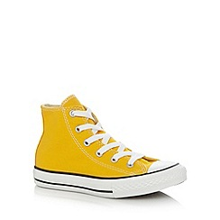 Converse - Boy's yellow 'All Star' hi-top trainers