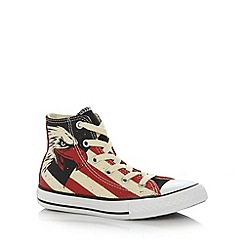 Converse - Boy's red eagle printed 'All Star' hi-top trainers