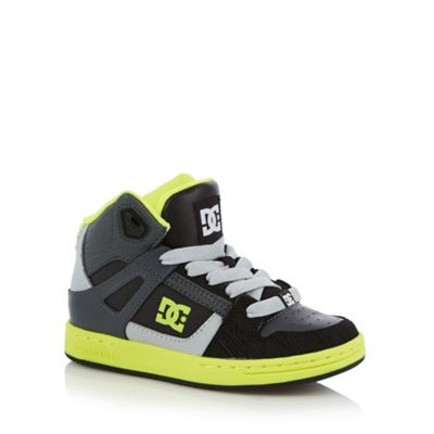 DC Boy´s black panel high top trainers - . -
