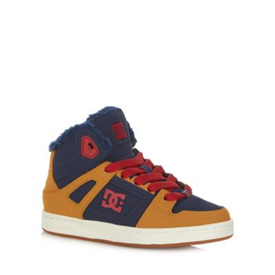DC Boy´s orange leather patterned trainers - . -