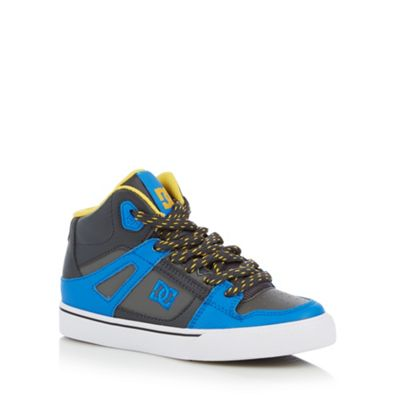 DC Boy´s blue panel high top trainers - . -