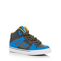 DC - Boy's blue panel high top trainers