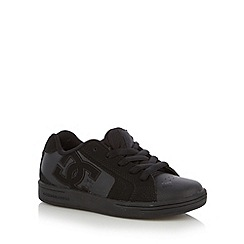 DC - Boy's black panel trainers