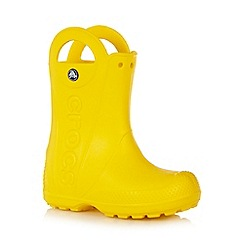 Crocs - Boy's yellow handled wellies