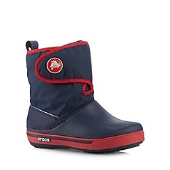 Crocs - Boy's navy snow boots