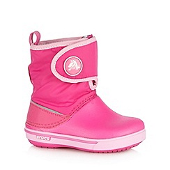 Crocs - Girl's pink snow boots