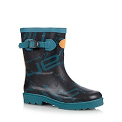 Animal - Boy's dark turquoise graphic printed wellies