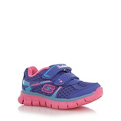 Skechers - Girl's purple 'Synergy' memory foam trainers