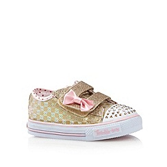 Skechers - Girl's gold sequin 'Twinkle Toes' trainers