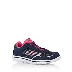 Skechers - Girl's navy 'GOWalk' trainers