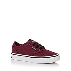Vans - Boy's wine classic canvas trainers