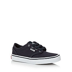 Vans - Boy's navy lace up trainers