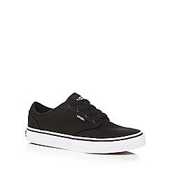 Vans - Boy's black lace up trainers